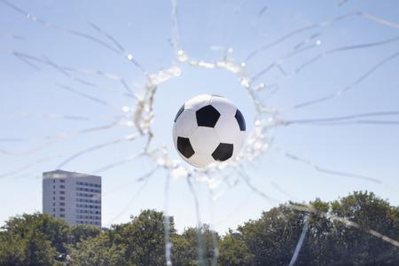 without windows: Soccer Ball Smashing through Window