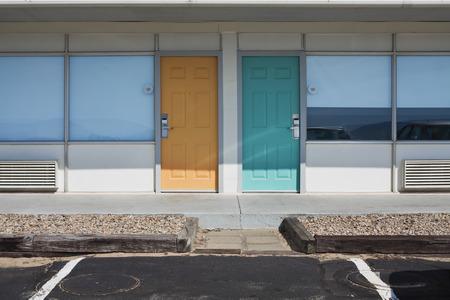 cape cod style: Refurbished 1970s Style Motel, Provincetown, Cape Cod, Massachusetts, USA