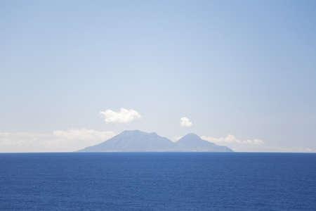 eolie: View of Salina Island from Ginostra,Stromboli Island,Aeolian Islands,Italy