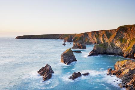Sea Stacks of Bedruthan Steps,Cornwall,England LANG_EVOIMAGES
