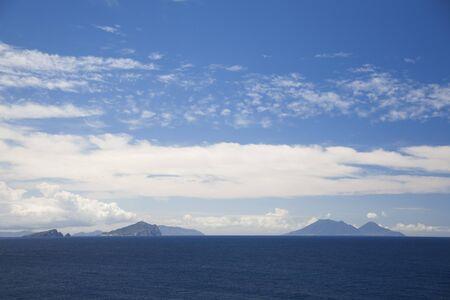 eolie: Salina Island and Panarea Island seen from Ginostra,Stromboli Island,Aeolian Islands,Italy