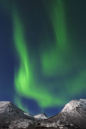 nightime: Northern Lights near Tromso,Troms,Norway LANG_EVOIMAGES