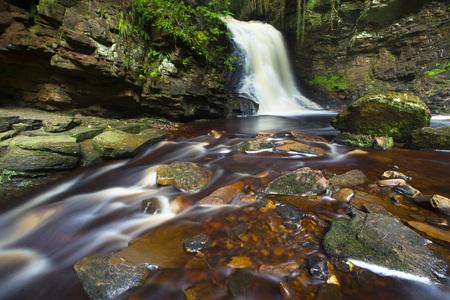 Hareshaw Linn Waterfall,Bellingham,Northumberland National Park,Northumberland,North East England,England LANG_EVOIMAGES