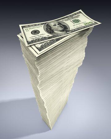 Stack of American 100 Dollar Bills LANG_EVOIMAGES