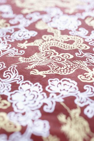goodluck: Dragon Pattern on Red Paper