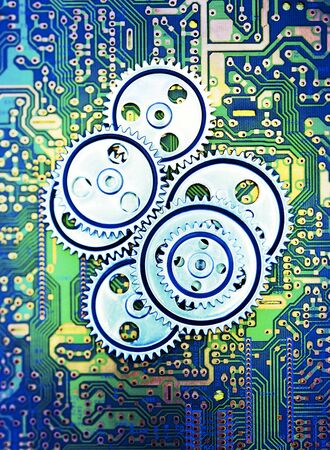 coordinating: Gears and Circuit Board    LANG_EVOIMAGES