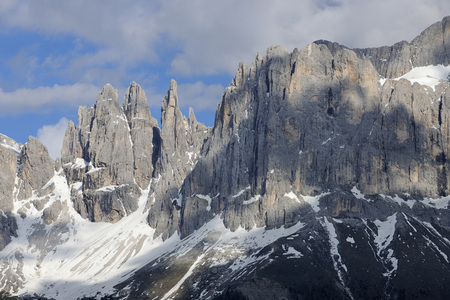 Peaks of Rosengarten (Catinaccio Group), Vajolet Towers and Laurinswand, Trentino Alto Adige, South Tyrol, Dolomites, Italy