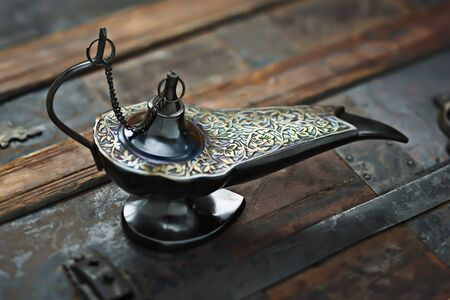 Close-up of Middle Eastern Style Oil Lamp