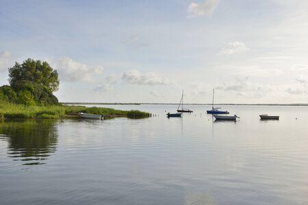Sailing Boats in Summer, Vitte, Baltic Island of Hiddensee, Baltic Sea, Western Pomerania, Germany