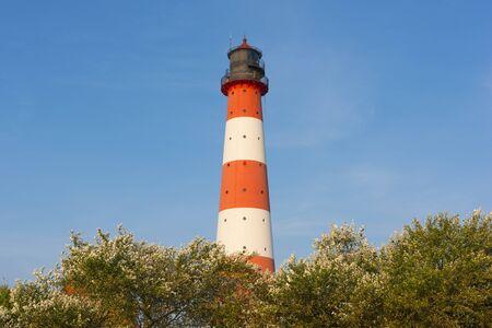westerheversand: Westerhever Lighthouse, Eiderstedt, North Frisia, Schleswig-Holstein, Germany LANG_EVOIMAGES