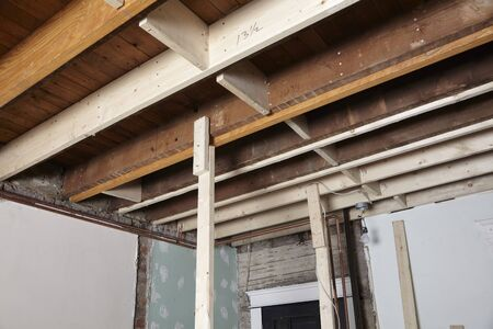 Ceiling Joists of Home Under Construction