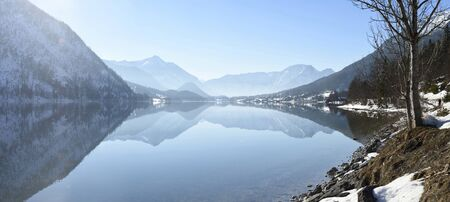steiermark: Landscape of Grundlsee Lake on Sunny Day in Winter, Liezen District, Styria, Austria