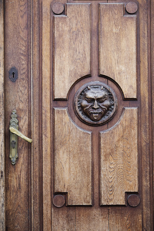 Detail on Door, Stare Miasto, Warsaw, Poland LANG_EVOIMAGES