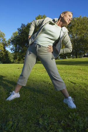 brazilian ethnicity: Woman Exercising in Park