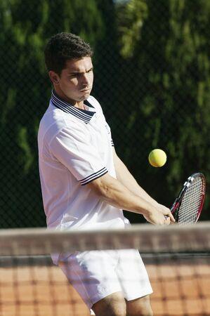 brazilian ethnicity: Man Playing Tennis