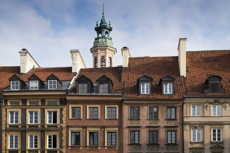 Tower over Buildings, Stare Miasto, Warsaw, Poland LANG_EVOIMAGES