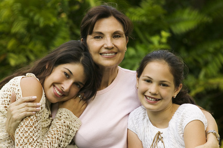 three generations: Portrait of Grandmother, Mother And Daughter