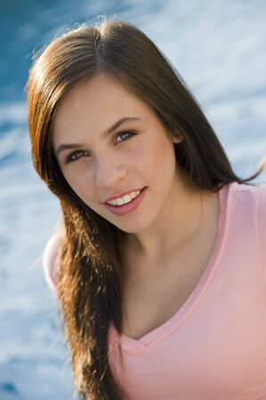 brazilian ethnicity: Portrait of Teenage Girl LANG_EVOIMAGES
