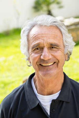 outoors: Portrait of Senior Man Outoors, Spain