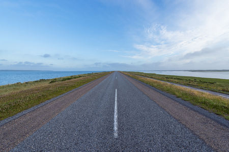 Country Road on Headland, Thy National park, Agger, North Jutland, Denmark LANG_EVOIMAGES