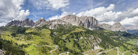 Scenic overview of the Puez Odle Group, Dolomites, South Tyrol, Trentino Alto Adige, Italy