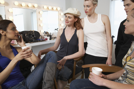 five stars: People Relaxing Backstage