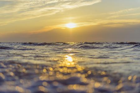 amanecer: Baltic Sea at Sunrise, Bunken, Aalbaek Bay, Baltic Sea, North Jutland, Denmark