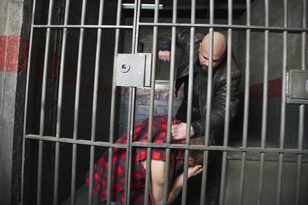 Prisoner Beating up another Prisoner