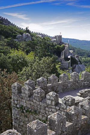 Castle of the Moors in Sintra Municipality, Portugal