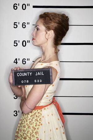 Mug Shot of Woman