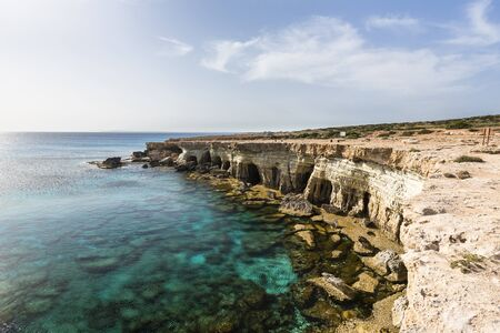 Coastline with Caves, Cape Greco, National Forest Park, Ayia Napa, Cyprus LANG_EVOIMAGES