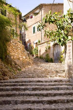 Cobblestone Stairs, Fornalutx, Mallorca, Spain