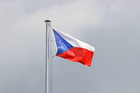 czech republic: Flag of Czech Republic Stock Photo