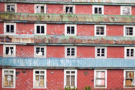dilapidated: dilapidated building
