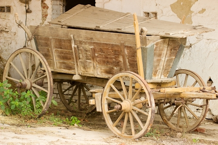 the historical: Historical agricultural vehicle Stock Photo