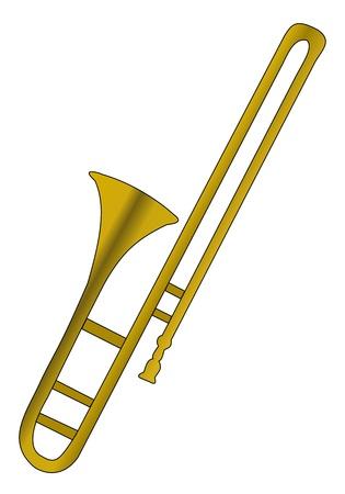 Illustration of brass instrument - trombone