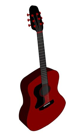 Illustration of an acoustic guitar Stock Photo