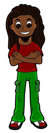 rastafarian: Illustration of rastafarian wearing dreadlocks