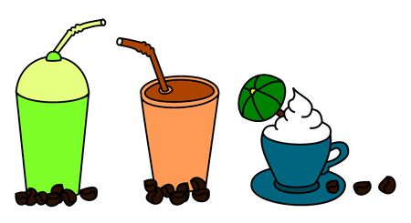 Coffee  clip arts - the illustration Vector