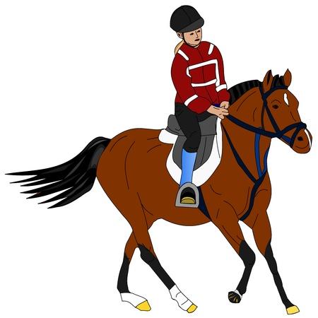 stirrup: Illustration of a girl riding the pony