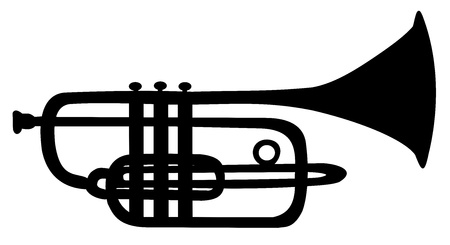 The silhouette of the trumpet Illustration