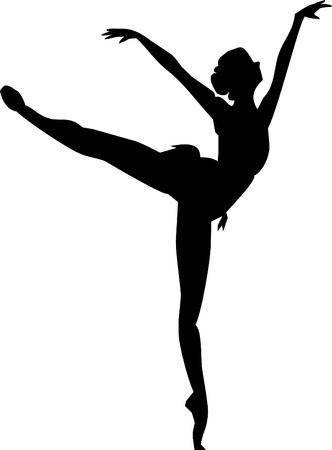 ballerina silhouette: ballerina isolated