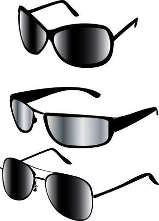elementos de protección personal: gafas de sol aislados