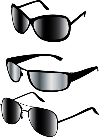 sunglasses reflection: sunglasses isolated Illustration