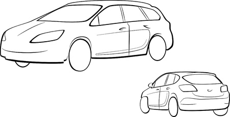 car drawing: car outline