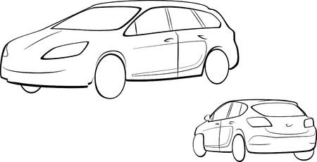 contorno auto Vettoriali