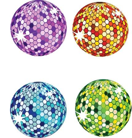 retro disco: bolas de discoteca