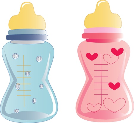 baby bottles  Stock Vector - 12827709