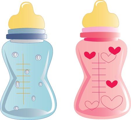 baby bottles Stock Vector - 12827709