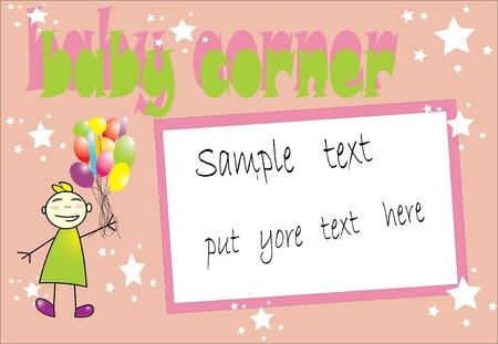 baby corner pink  Stock Vector - 12827680